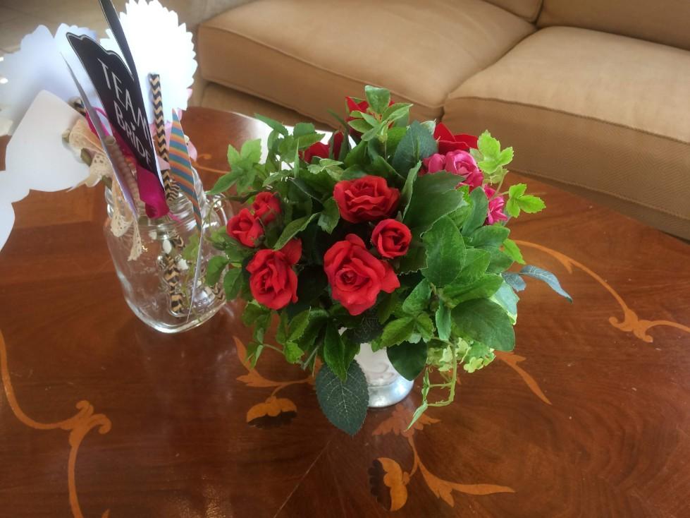 ブライダルフェア会場の装花