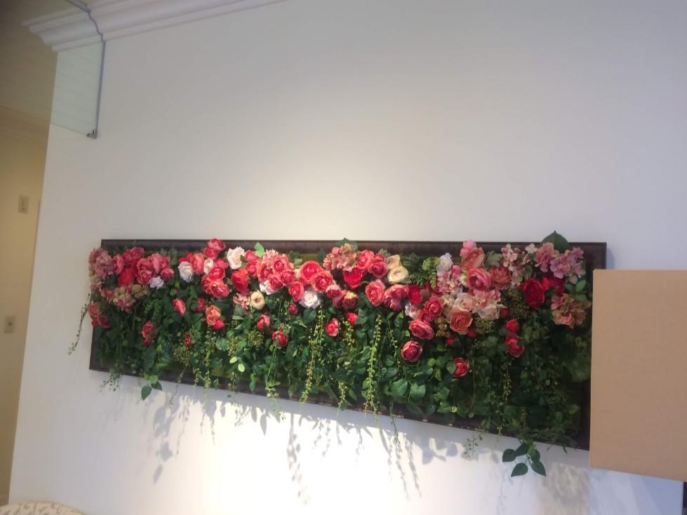結婚式の待合ルームの装花