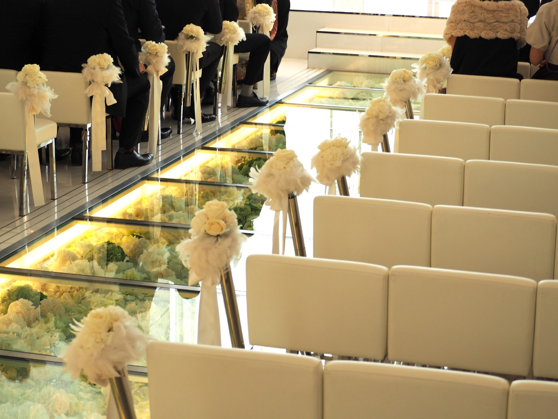 結婚式場のバージンロード