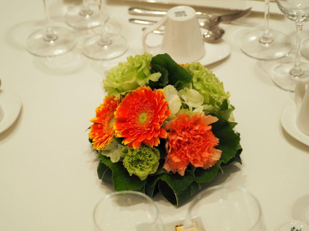 ブライダルフェアの装花