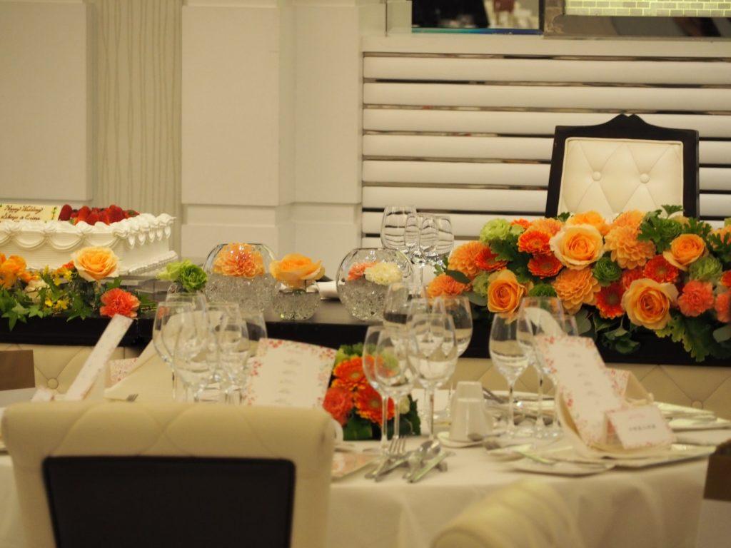 結婚式場の披露宴の高砂