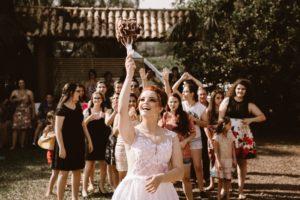 結婚式でのブーケトス
