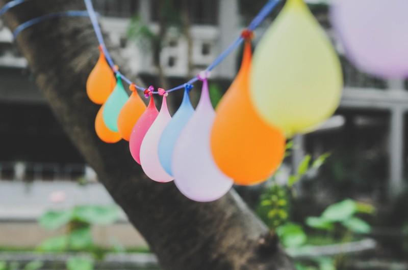 風船の飾り