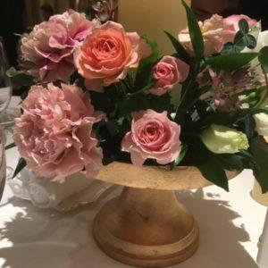 結婚式のテーブル装花