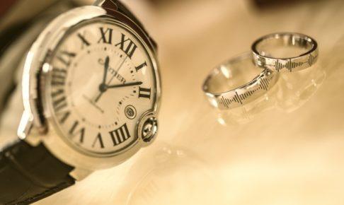 結婚指輪と時計